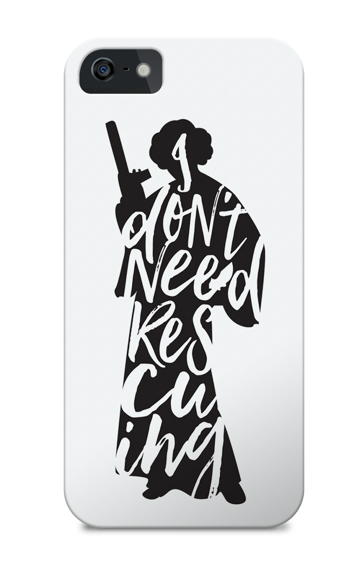 Don't Rescue Me - iPhone Case via Redbubble