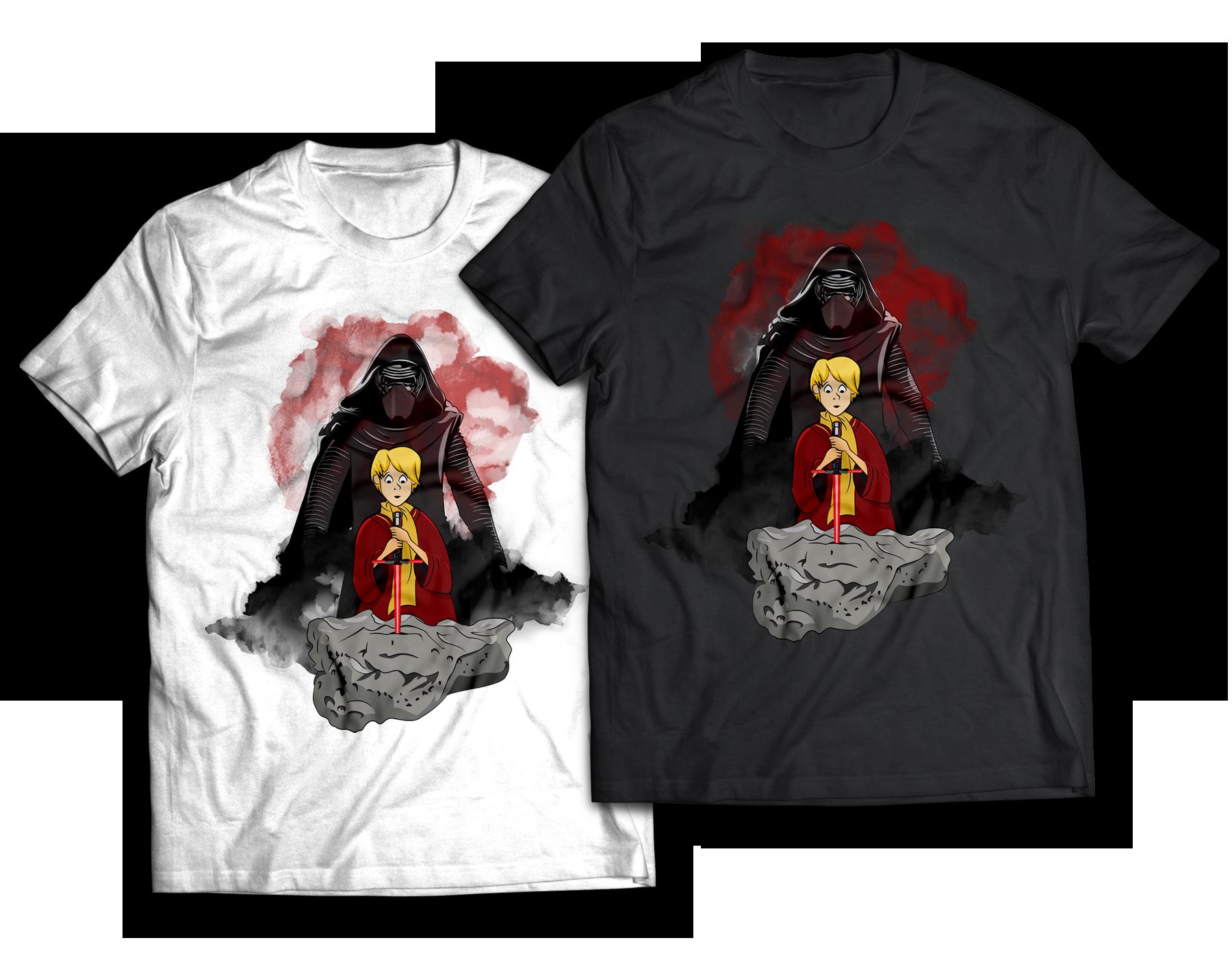 Kylo Ren Sword in the Stone Mashup T-shirt design Jlane Design Teepublic