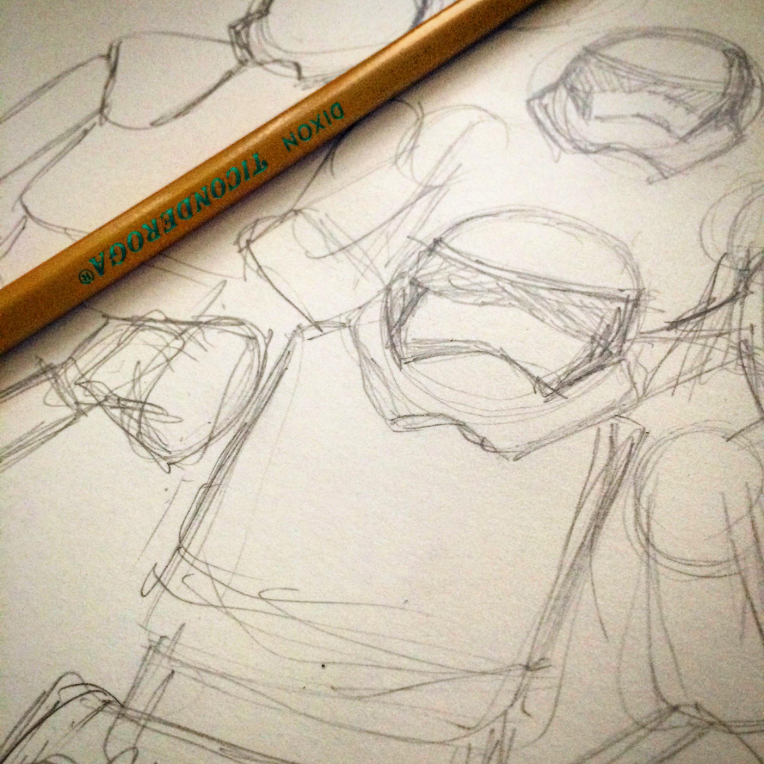 Stormtrooper Sketch Drawing Jlane Design