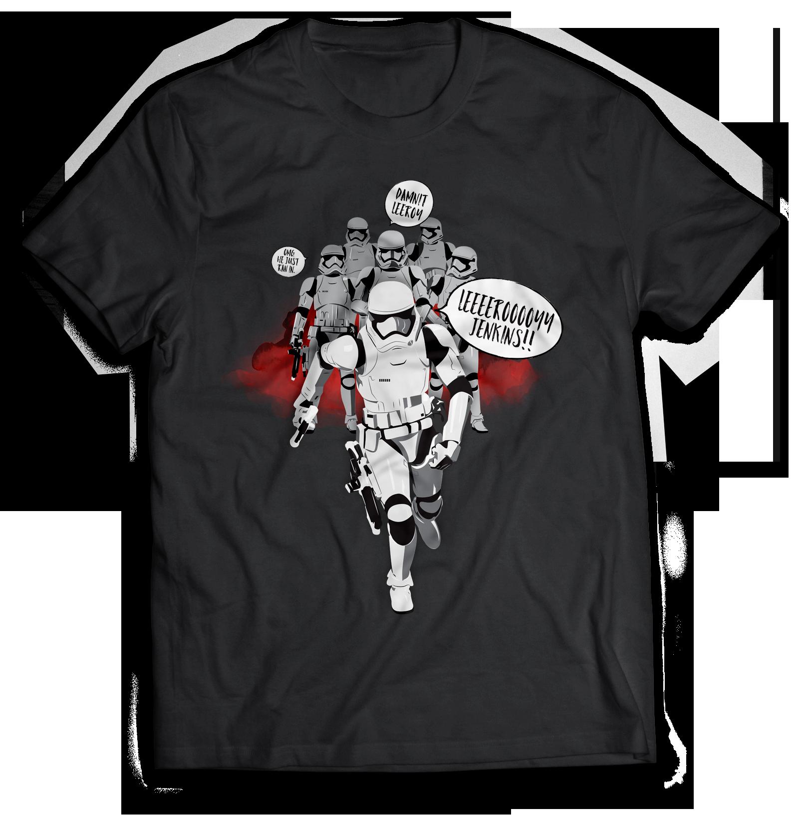 Stormtrooper Jenkins Star Wars world of warcraft T-Shirt Jlane Design Teepublic