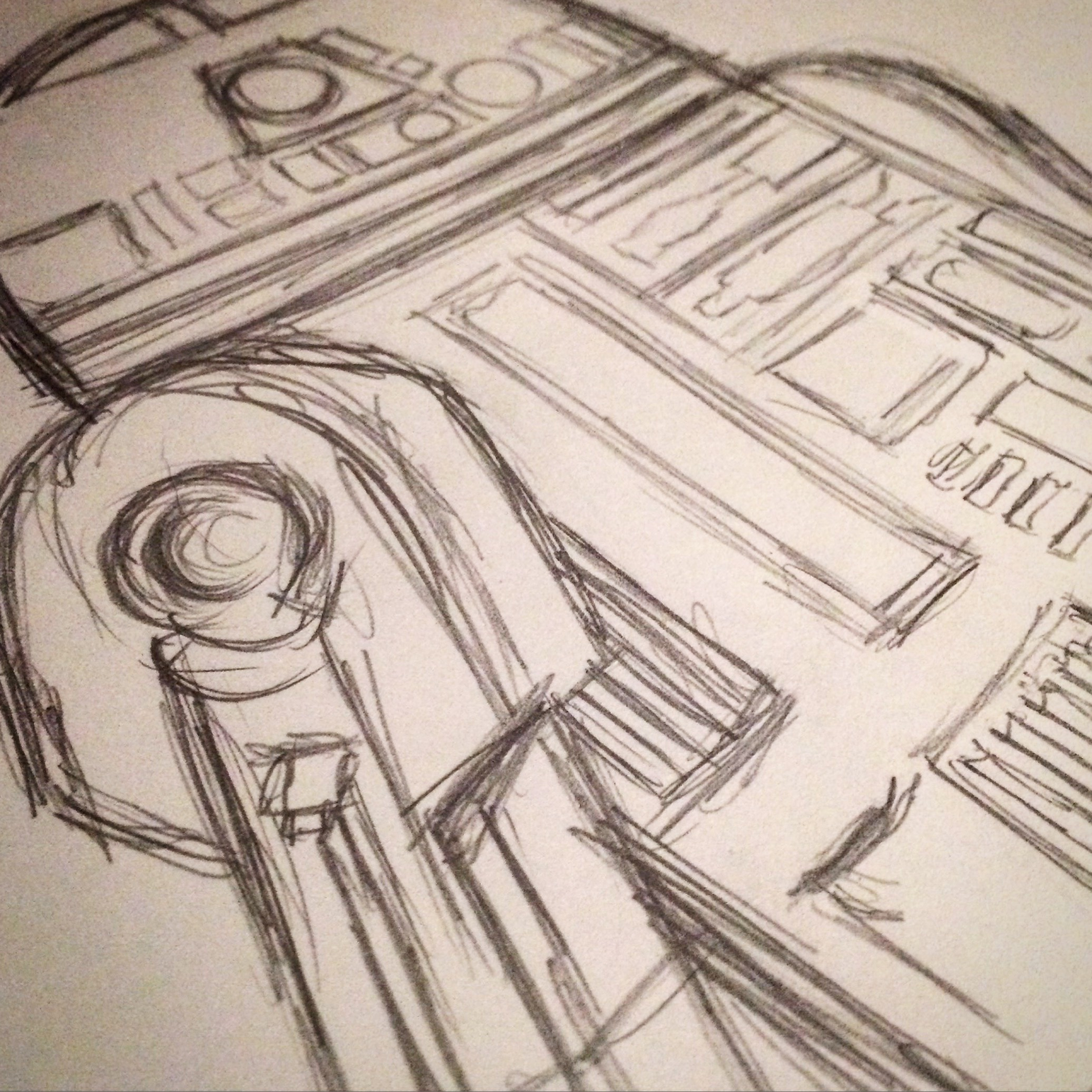 R2-D2 Sketch Drawing
