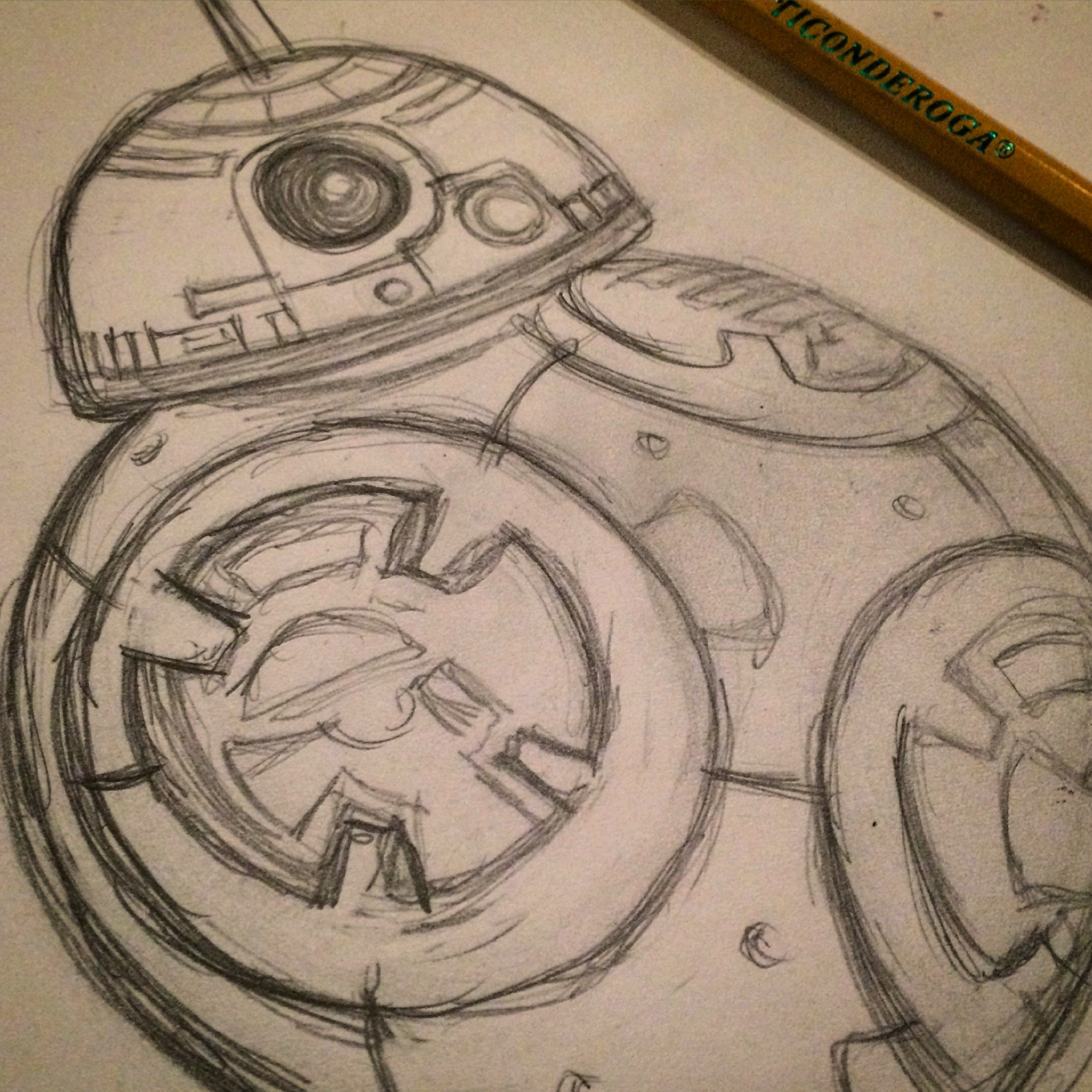 BB-8 Sketch Drawing