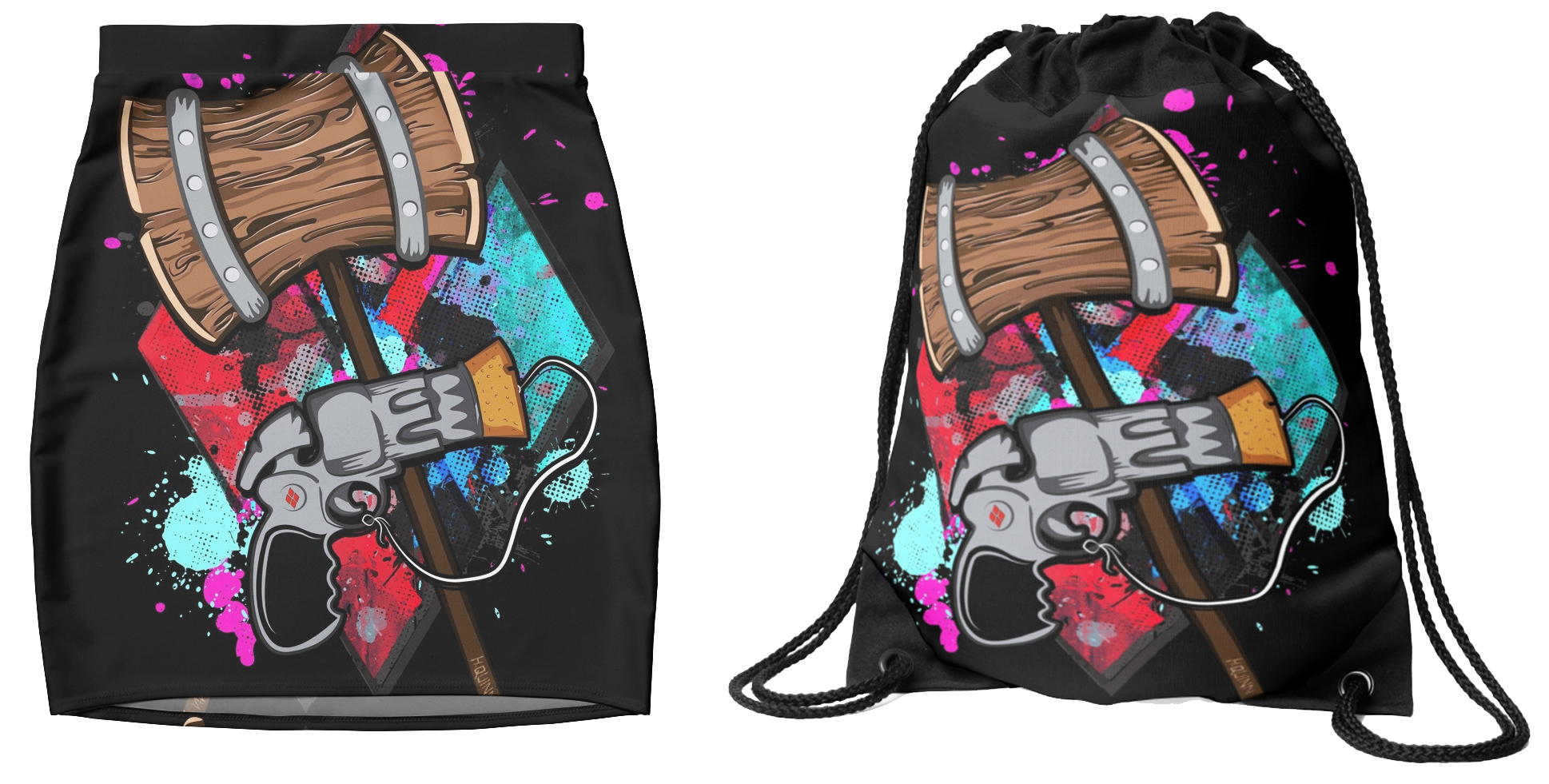 The Psycho Harley Quinn Skirt Backpack Bag Redbubble