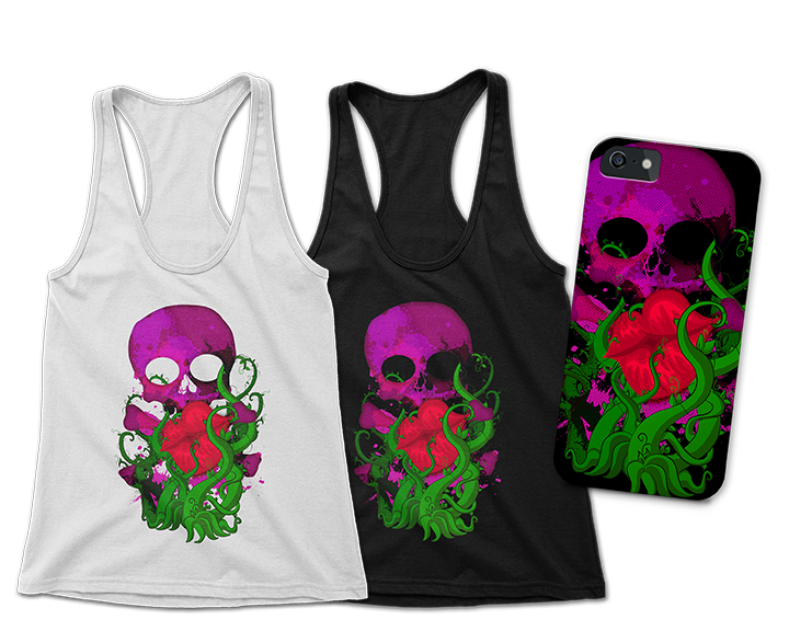 The Poison Ivy Tank Tops Phone Case JlaneDesign Teepublic