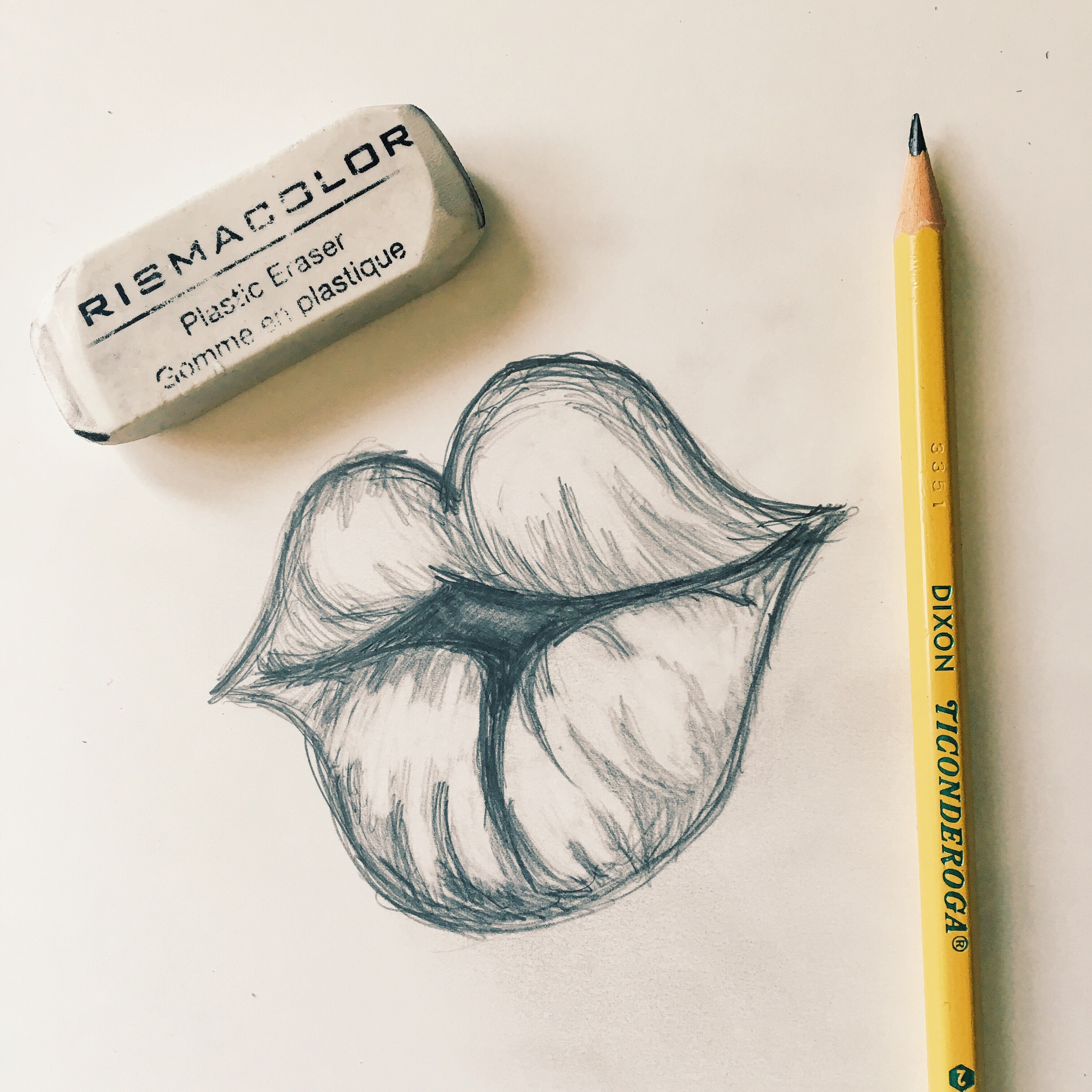 Poison Ivy Lips Sketch