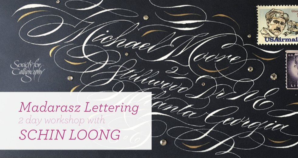 Madarasz Lettering - January 25-26, 2020Hosted by Society For Calligraphy, CAPlease contact Kristi Darwick:iepres.sfc@yahoo.comIn this class we will learn the beautiful shaded script of master penman Louis Madarasz (1859-1910). Please download sign up form here.
