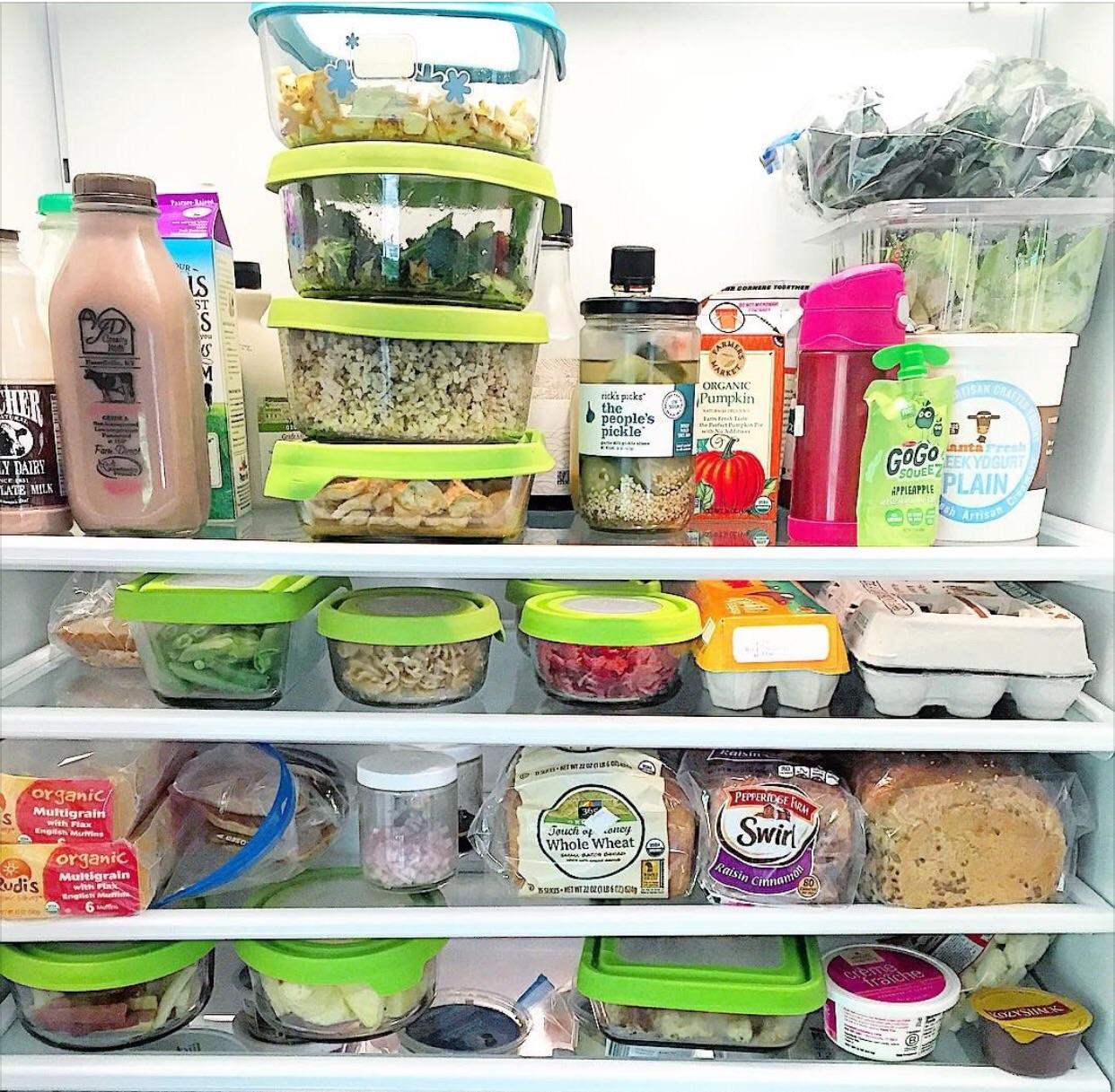 Melissa's fridge. Carb shelf envy, right?