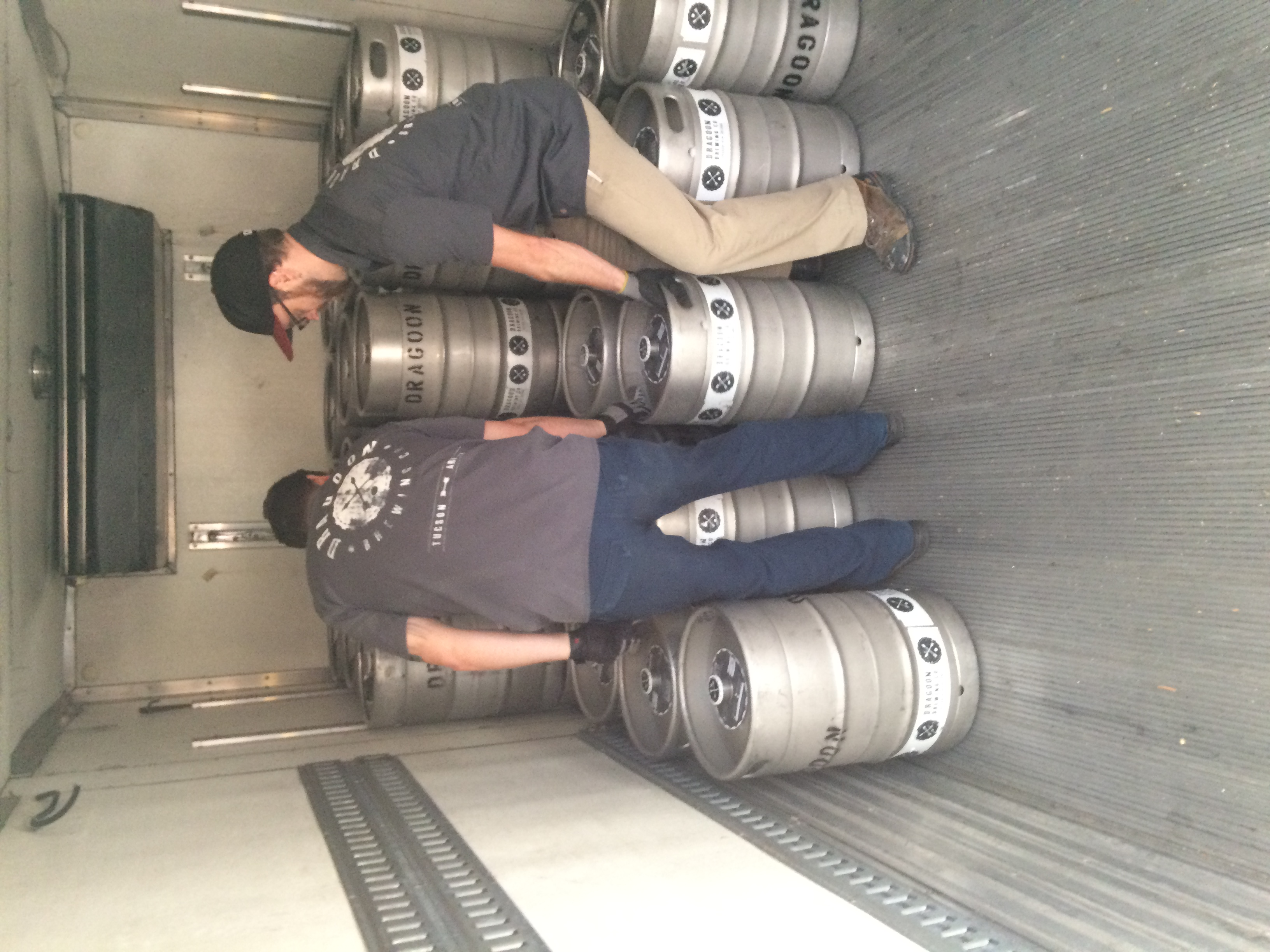 Pat & Tristan loading up the kegs