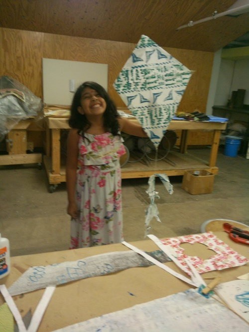 "Dashain, 18""x22"" handmade paper kits with wood block prints in support of the NepaleseKite flying holiday Dashain ."