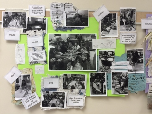In progress Bulletin Board kept the whole school interested in what the third grade was up to!