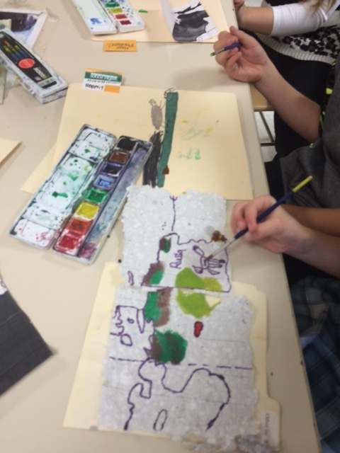 """collaboration between students assured every one that they knew the information about their """"Map Scrap""""."""