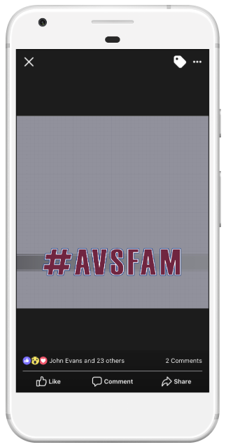 #AVSFAM FB Camera Frame - Simple and subtle, yet awesome.