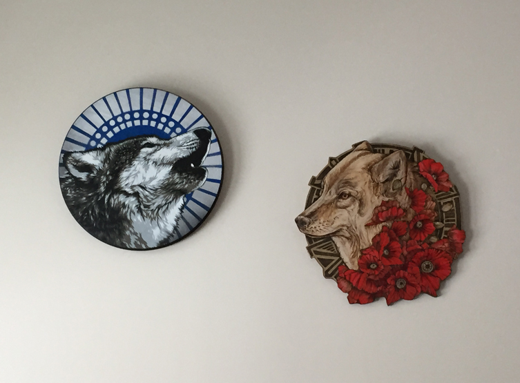 Snowblind   by  Mr. Prvrt  &   Untitled-She Wolf/Poppies by  Sarah Rutherford