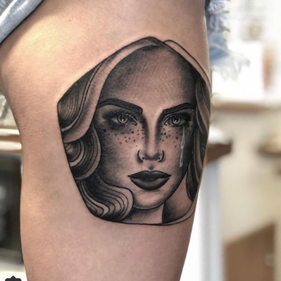 Lady tattoo