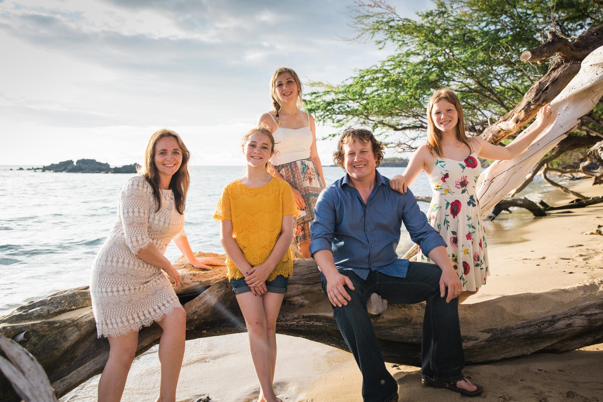 Teara and Family in Kona, HI