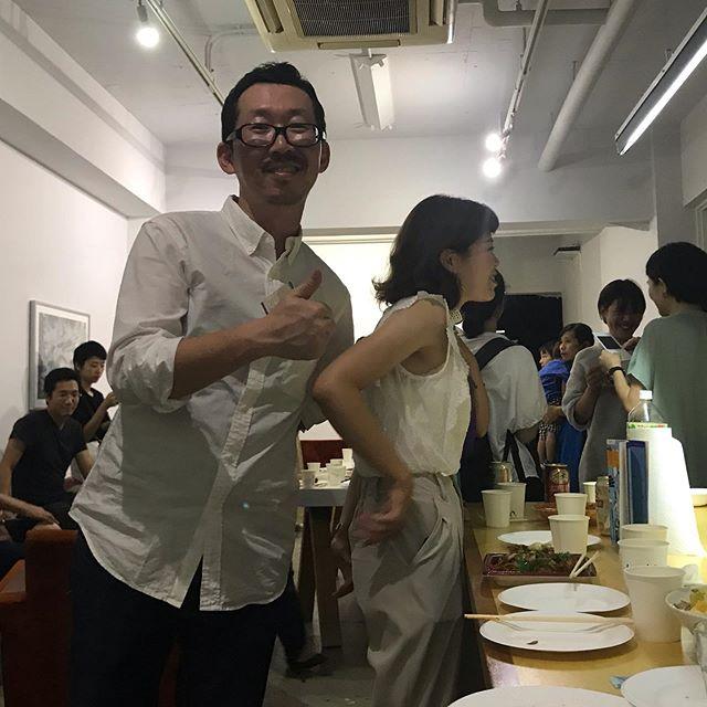 Kyoto Open Studio 1日目、お疲れさまでした! . オーガナイザーの中屋敷くん、ありがとう〜〜!あと3日、沢山の方をアトリエでお待ちしています! . #るびじゅ工房 #菊地ルイ #ruikikuchi #atelierrubijoux #kyotoartist #artiststudio #artiststudiovisit @thomyashiki @altspacepost