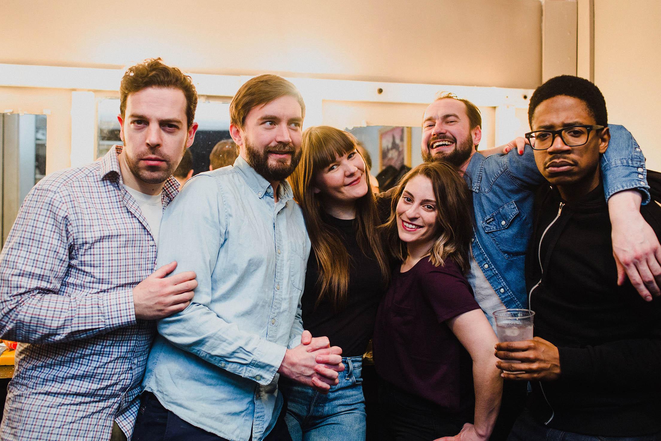 Comedians Michael Balazo, James Hartnett, Sara Hennessey, Jackie Pirico, Jordan Foisy, and Chris Sandiford