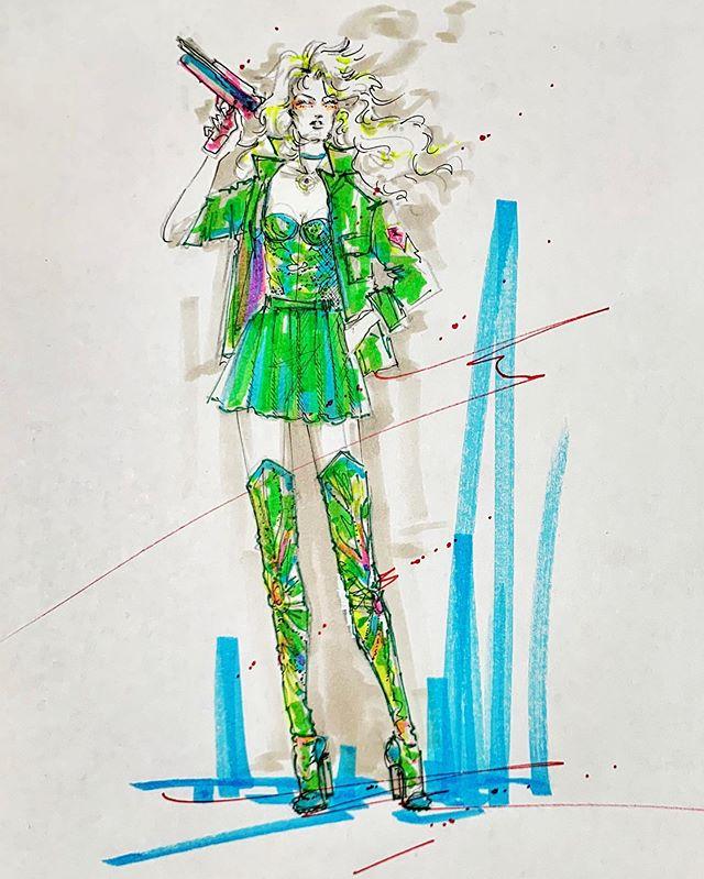 ✨Emelia 🔸 SaGa Frontier✨ favorite character🔸favorite video game • • • • • • • • • #fashion #fashionillustration #drawing #characterdesign #fashionsketch #illustration #marker #stars #glitter #legsfordays #fashionwind #hair #beauty #makeup #stilettos #thighhighs #diva #glamazon #runway #sagafrontier #romancingsaga #playstation #ps1 #rpg #jrpg #emelia #emilia #squareenix #tomomikobayashi #asellus