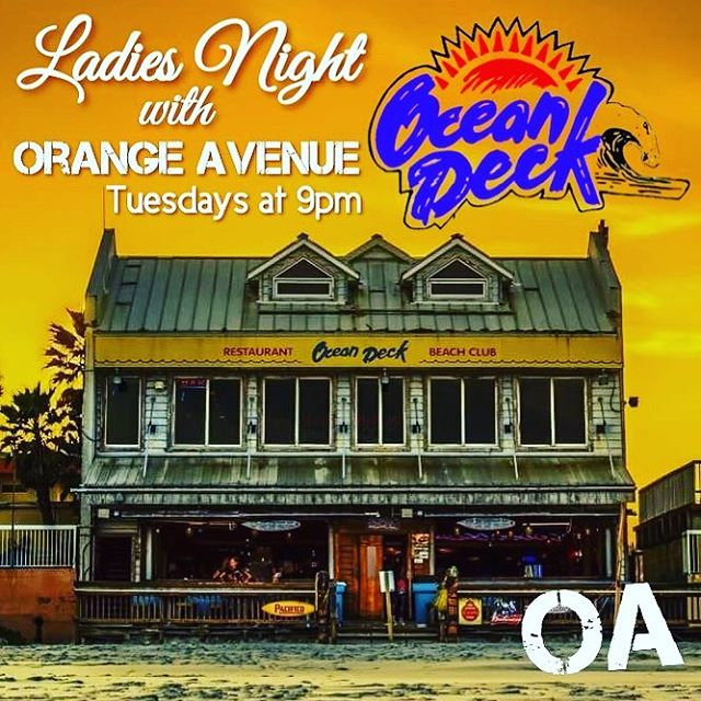 Come see us Tuesday at @oceandeck, #daytonabeach.