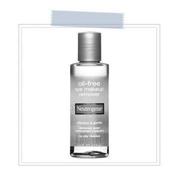 Neutrogena Oil-Free Eye Makeup Remover  For extra cleaning power use Neutrogena Oil-Free Eye Makeup Remover to eliminate stubborn eyeliner and glittery eye shadow { we just can't help ourselves }.  Apply a small amount onto a disposable lipstick wand and get to work!   BUY