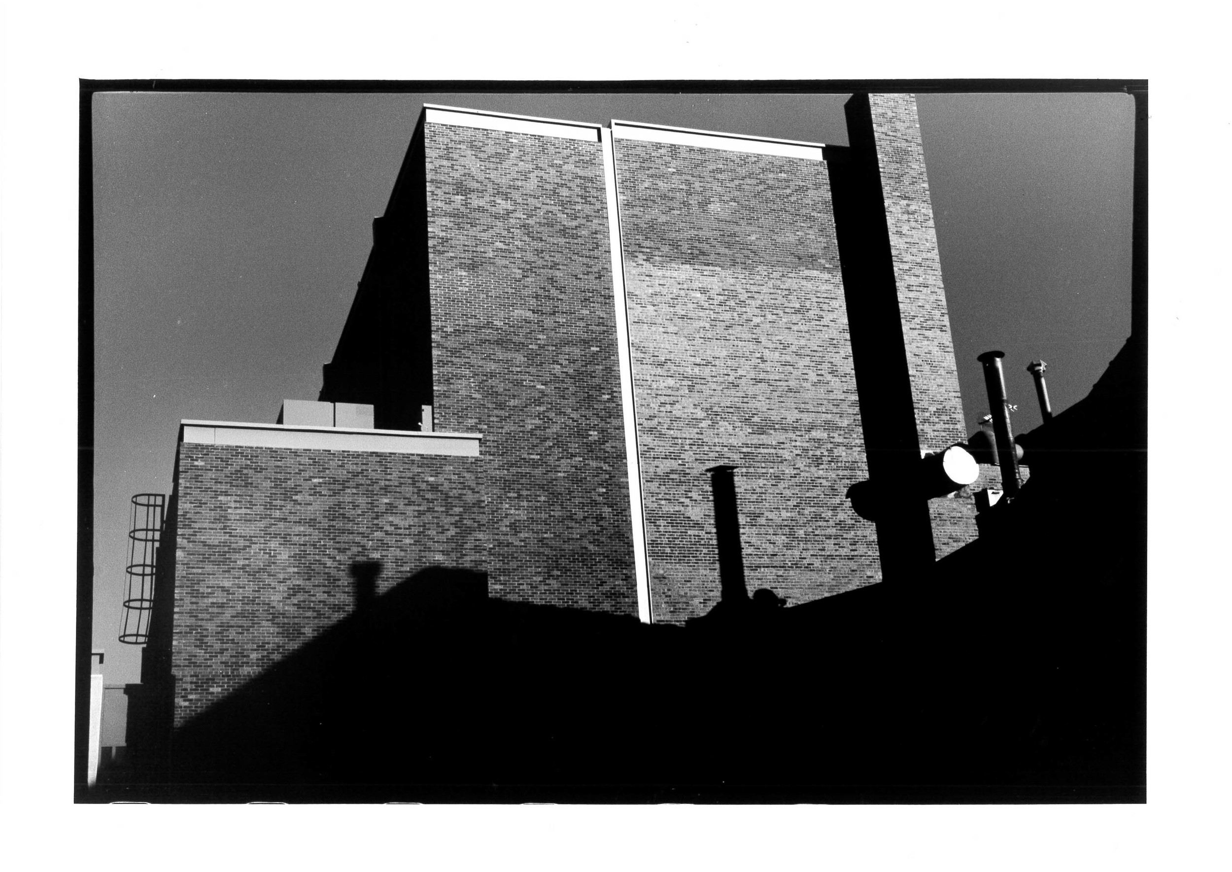 Building in shadow, New Mexico 2011 24x36 cm