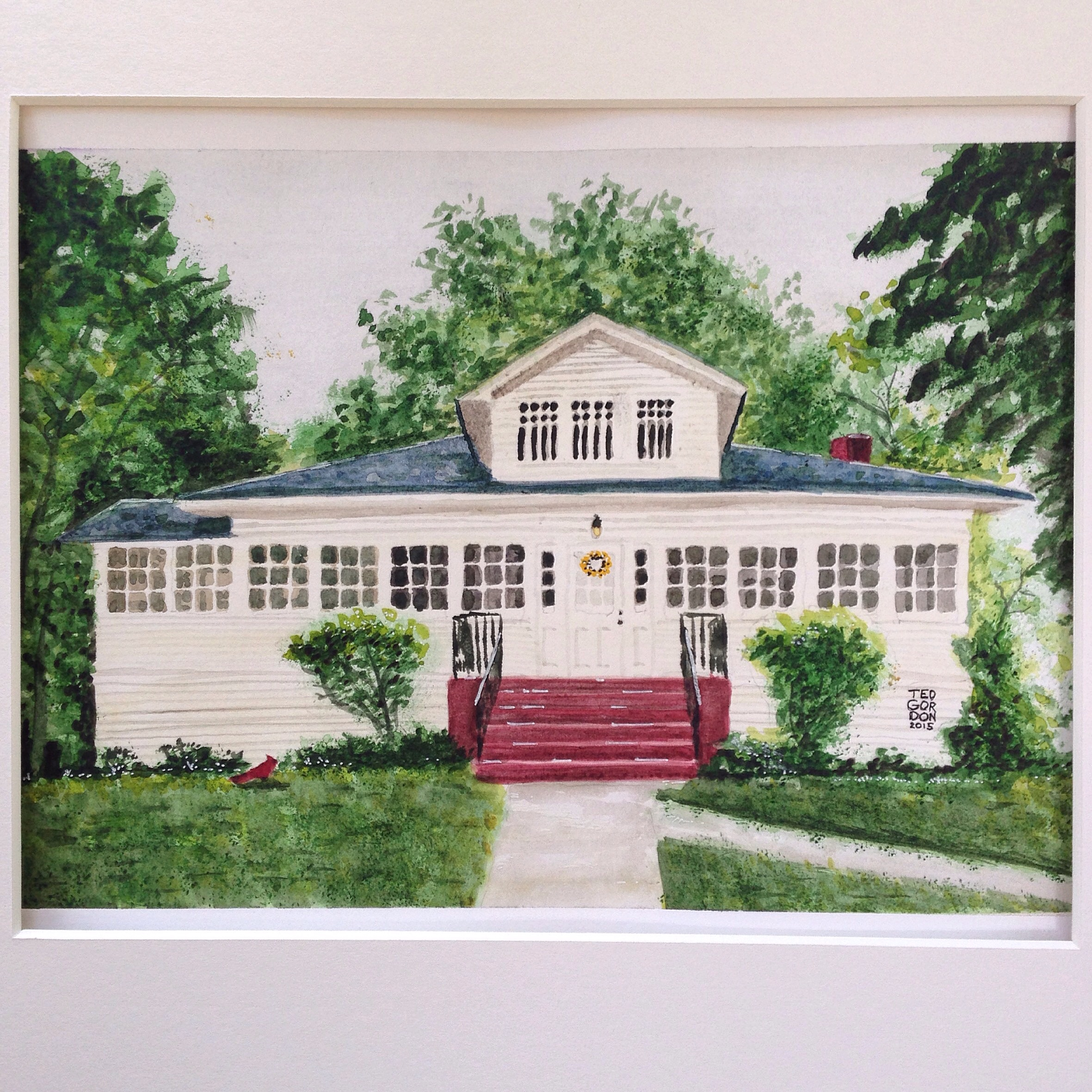 Michigan cottage house portrait
