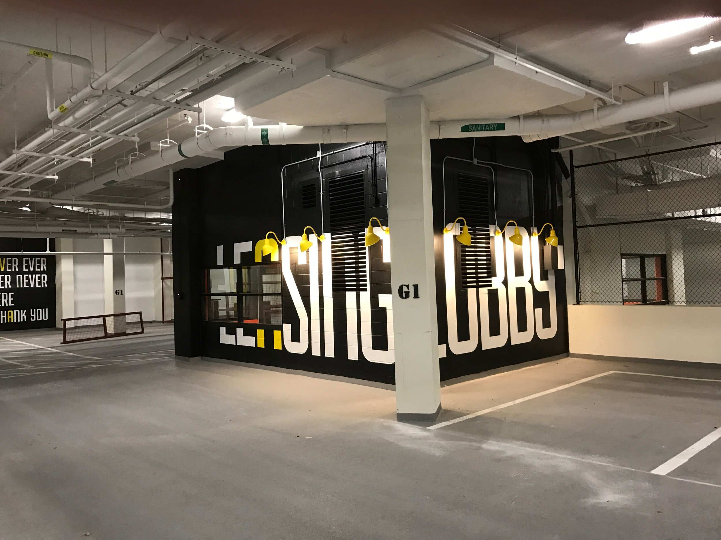 Leasing and Lobby Hand Painted Garage Stencils (2).JPG