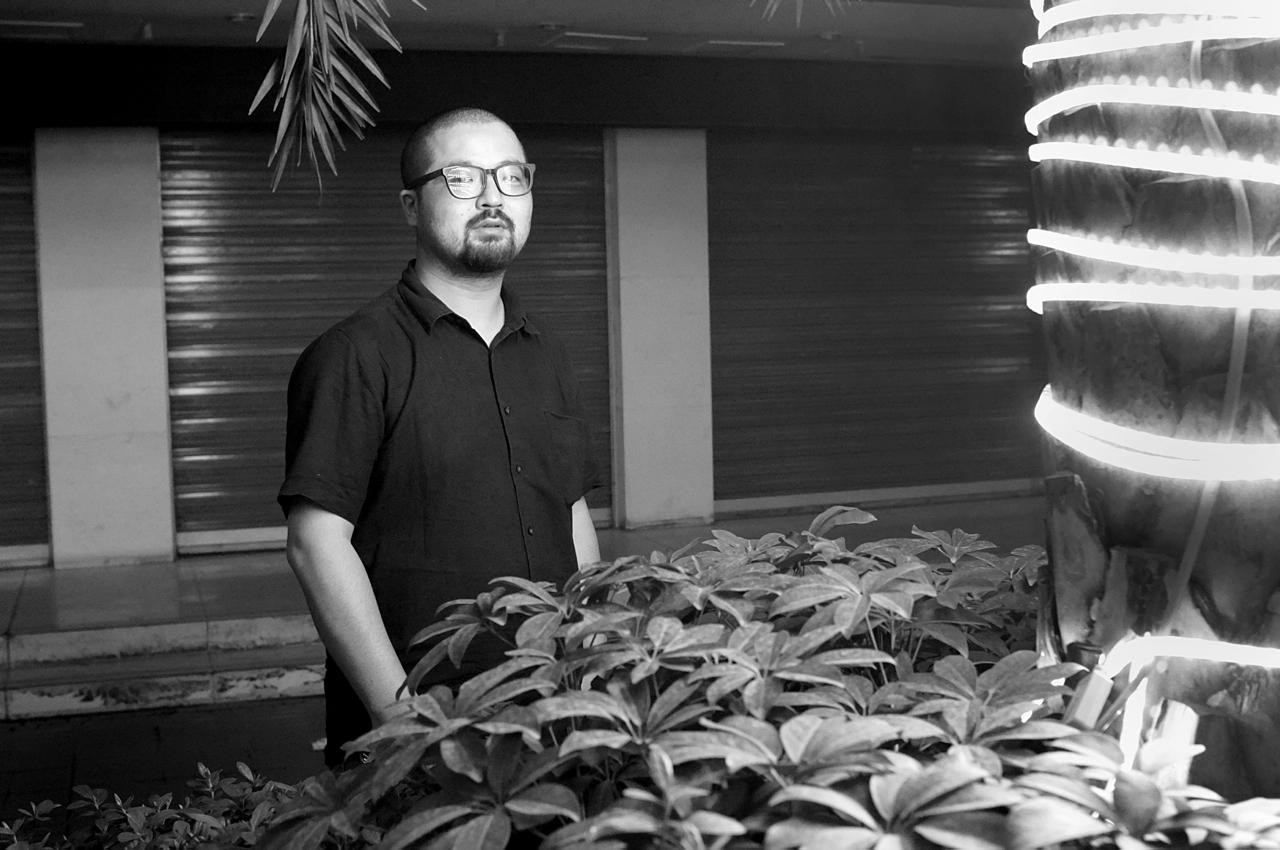 Portrait of Zhang Xiao, Chengdu, China, April 2013. Photo: Pedro de Almeida.