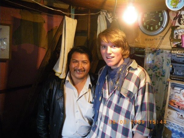 Our bodyguard, this pic is taken in his cell, he is a serial killer, San Pedro Prison, La Paz, Bolivia