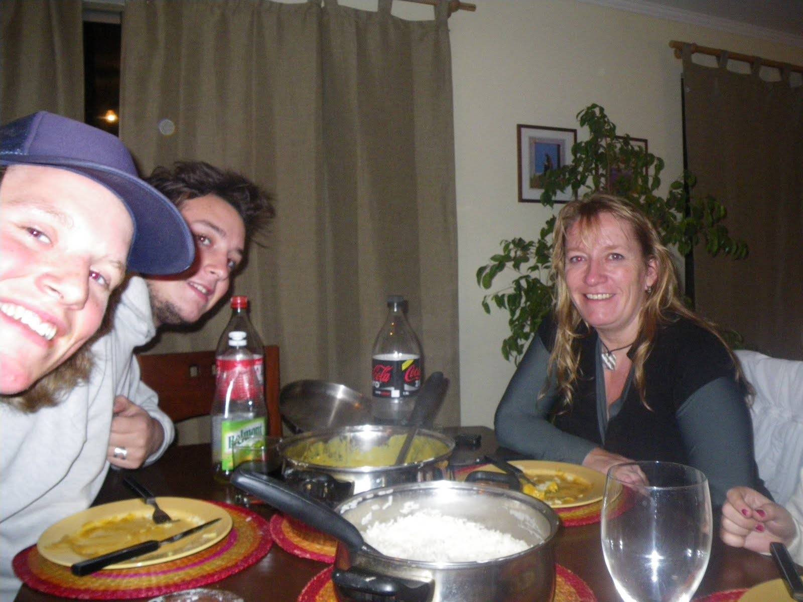 The chilean family in Santiago. This was the last meal in SA...