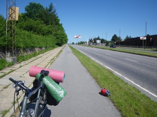 In Vejle I lost my luggage on the road