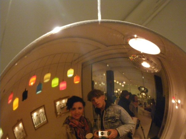 My sis and me in a store in CPH