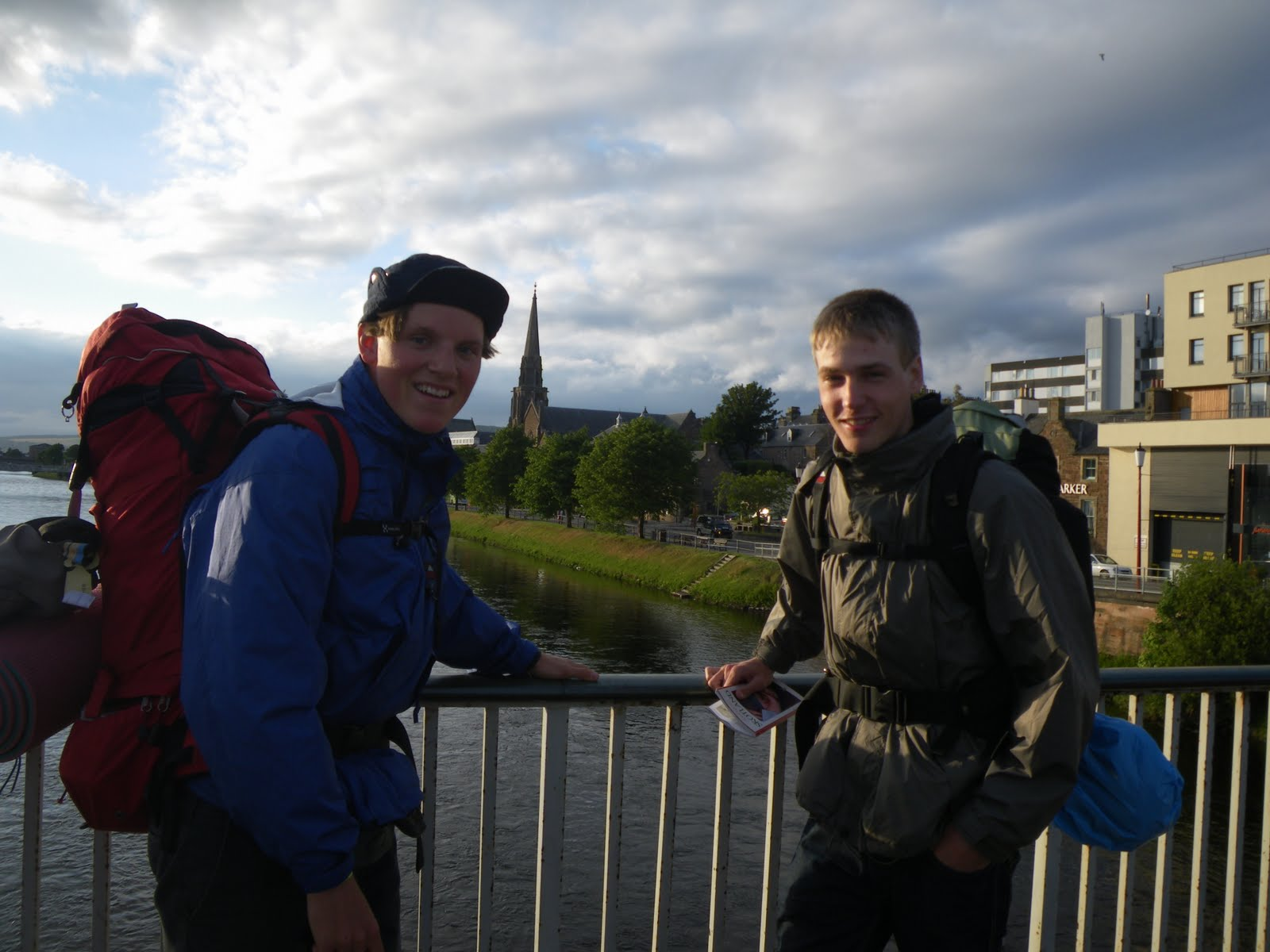 Just arrived in Inverness overlooking the river Where: Inverness, Scotland