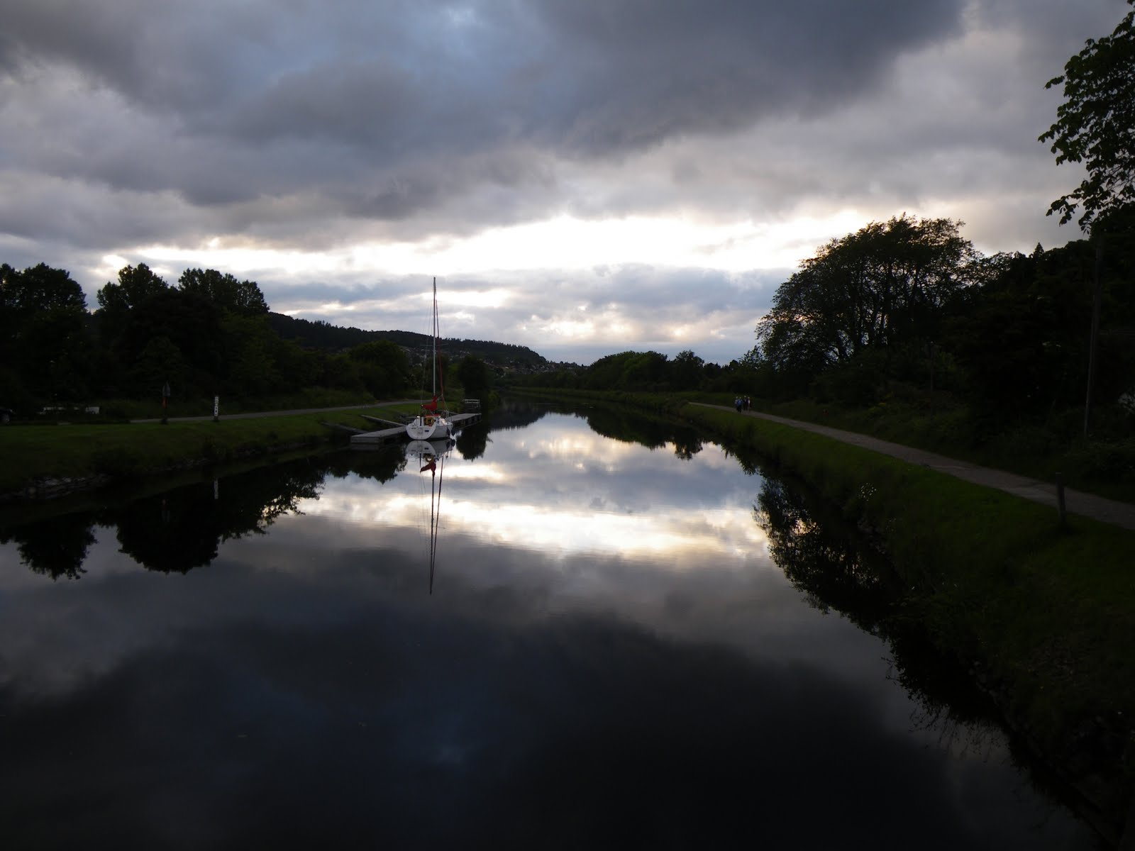 A mirror river just outside Inverness Where: Inverness, Scotland