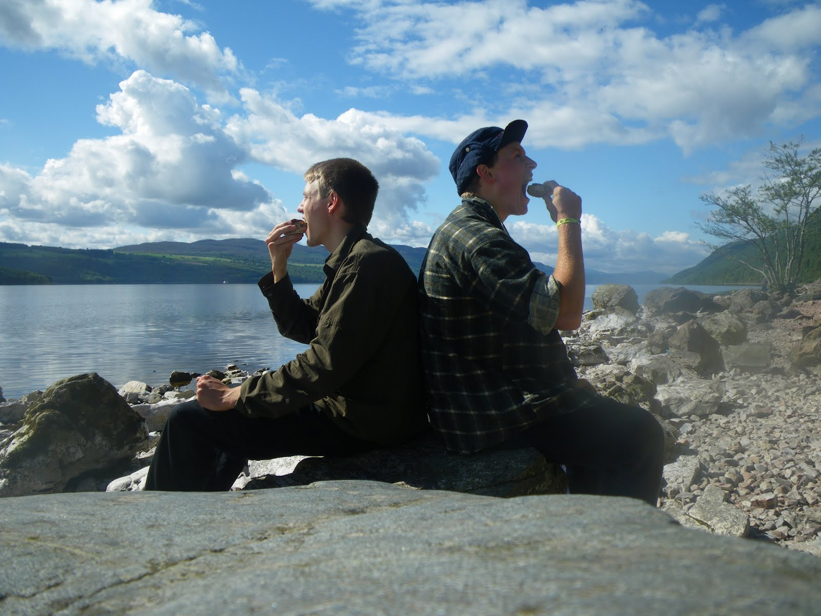 Eating lunch by the lake of Loch Ness and its monster Where: Lake Loch Ness, Inverness, Scotland