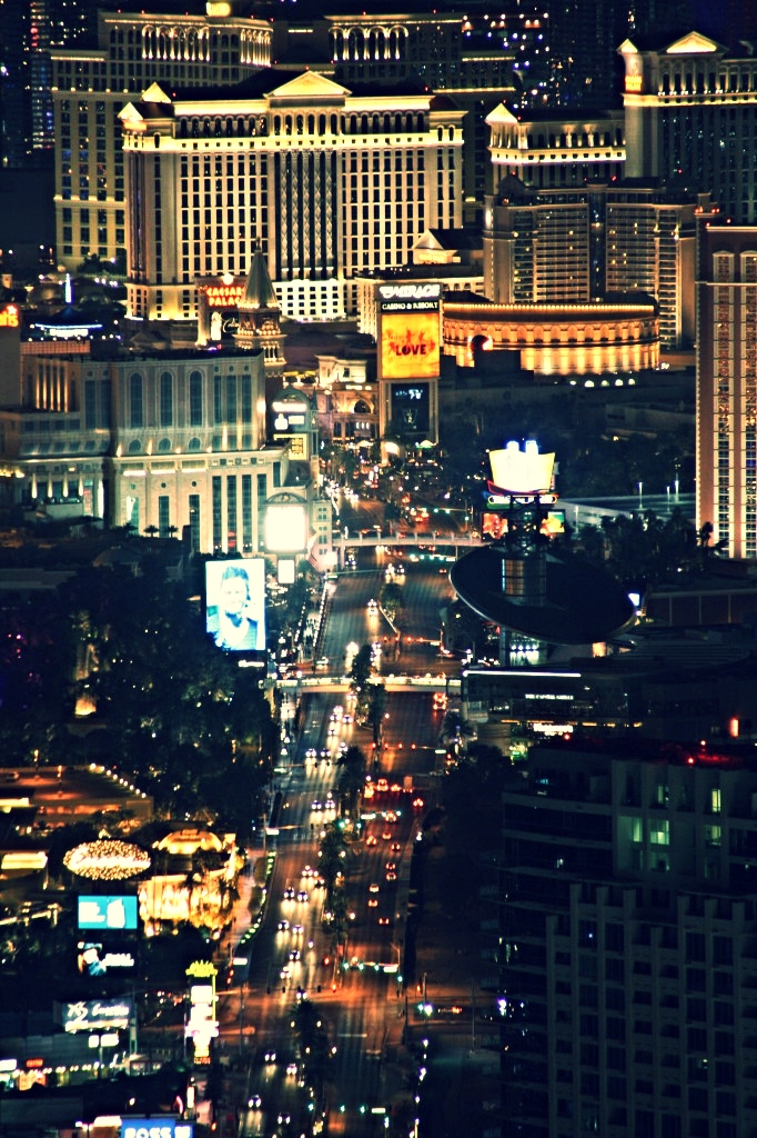View from my hotel window - The Strip, Las Vegas, NV