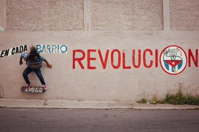 Amigo team rider Yojany Perez wall riding through the revolution.  Photo: Jonathan Drake.