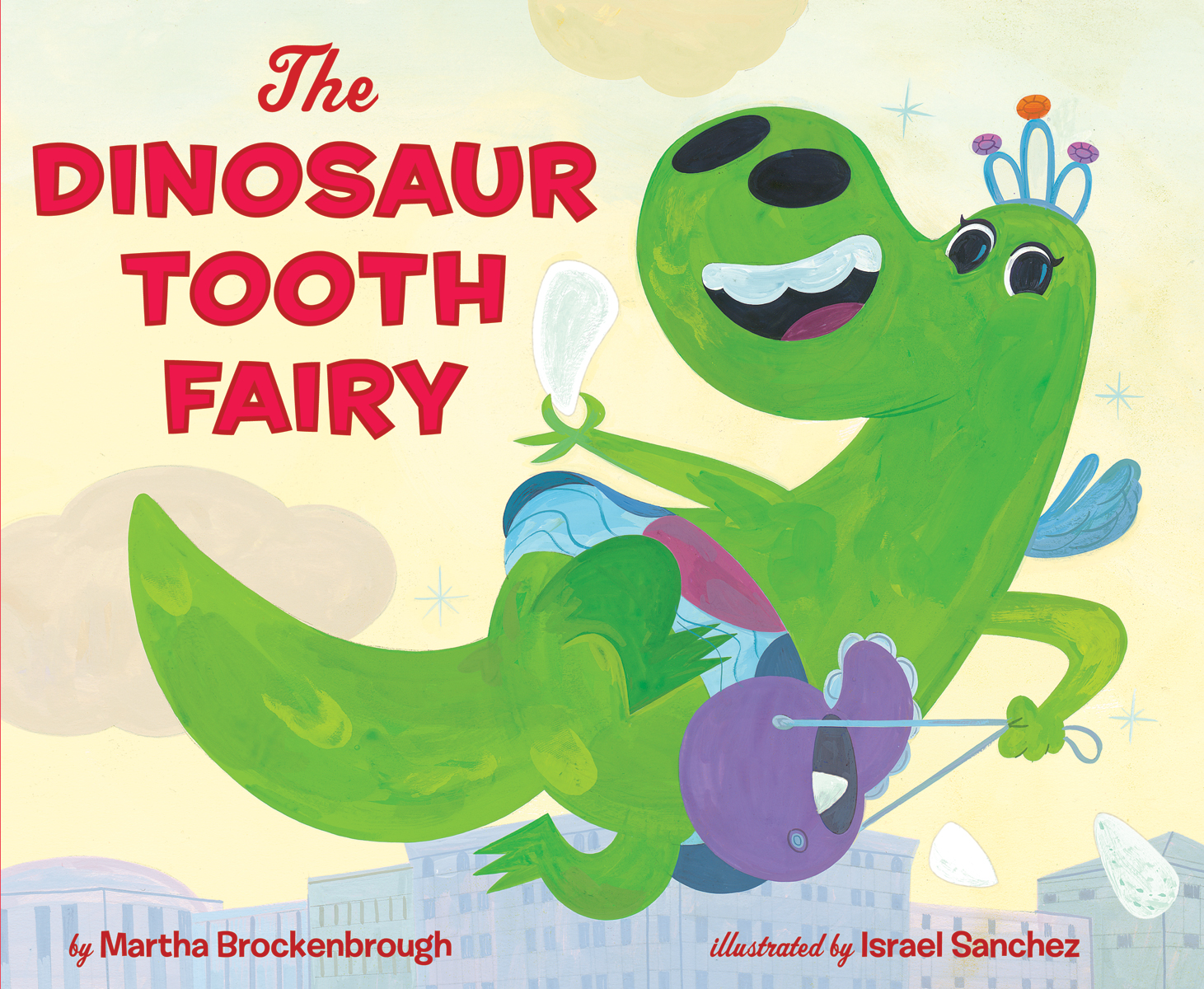 The Dinosaur Tooth Fairy     The Dinosaur Tooth Fairy is lonely in the Museum of Truly Old Things. And then she spies the tooth of her dreams…