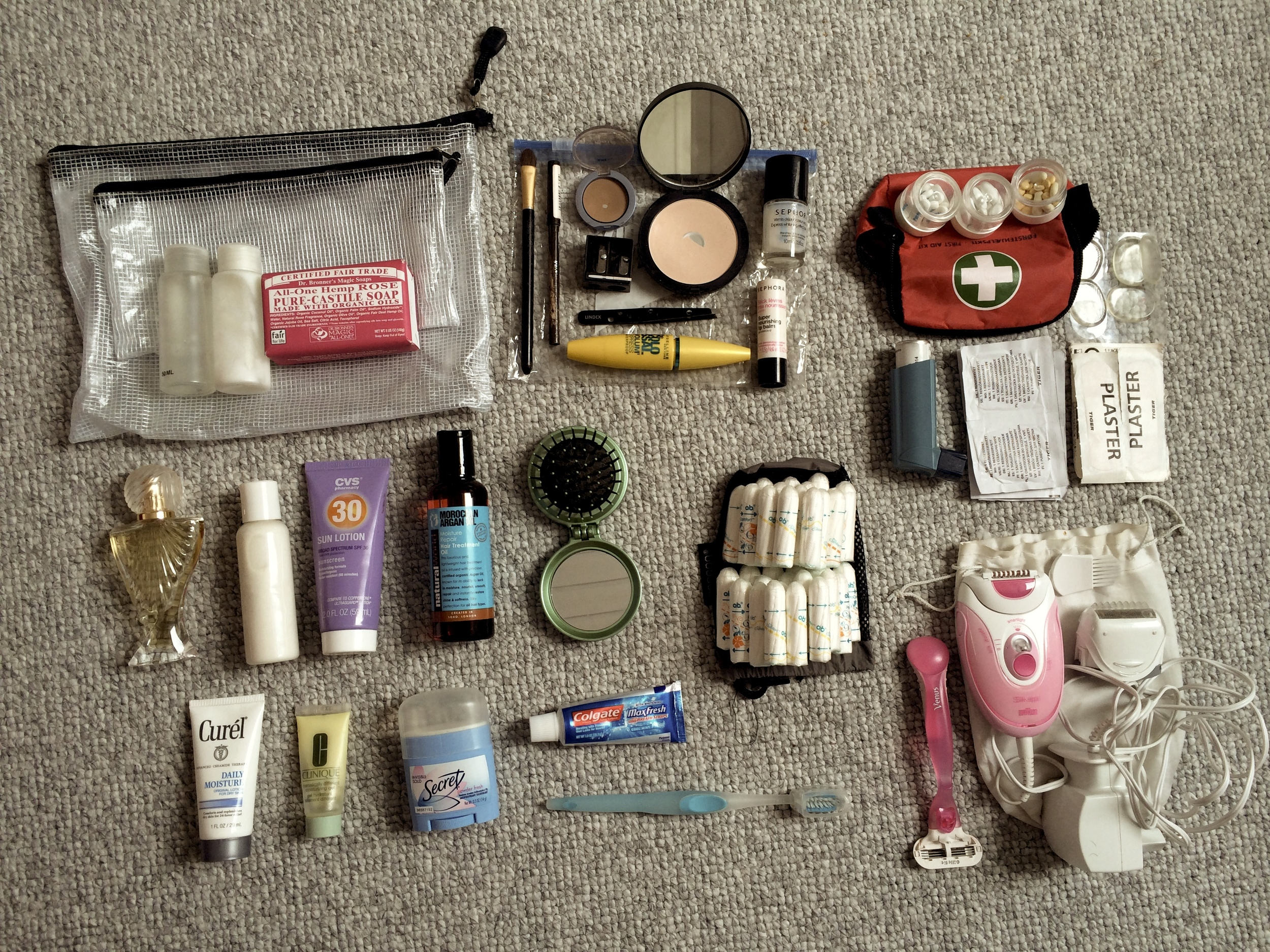 toiletries light travel packing backpacking carry on luggage