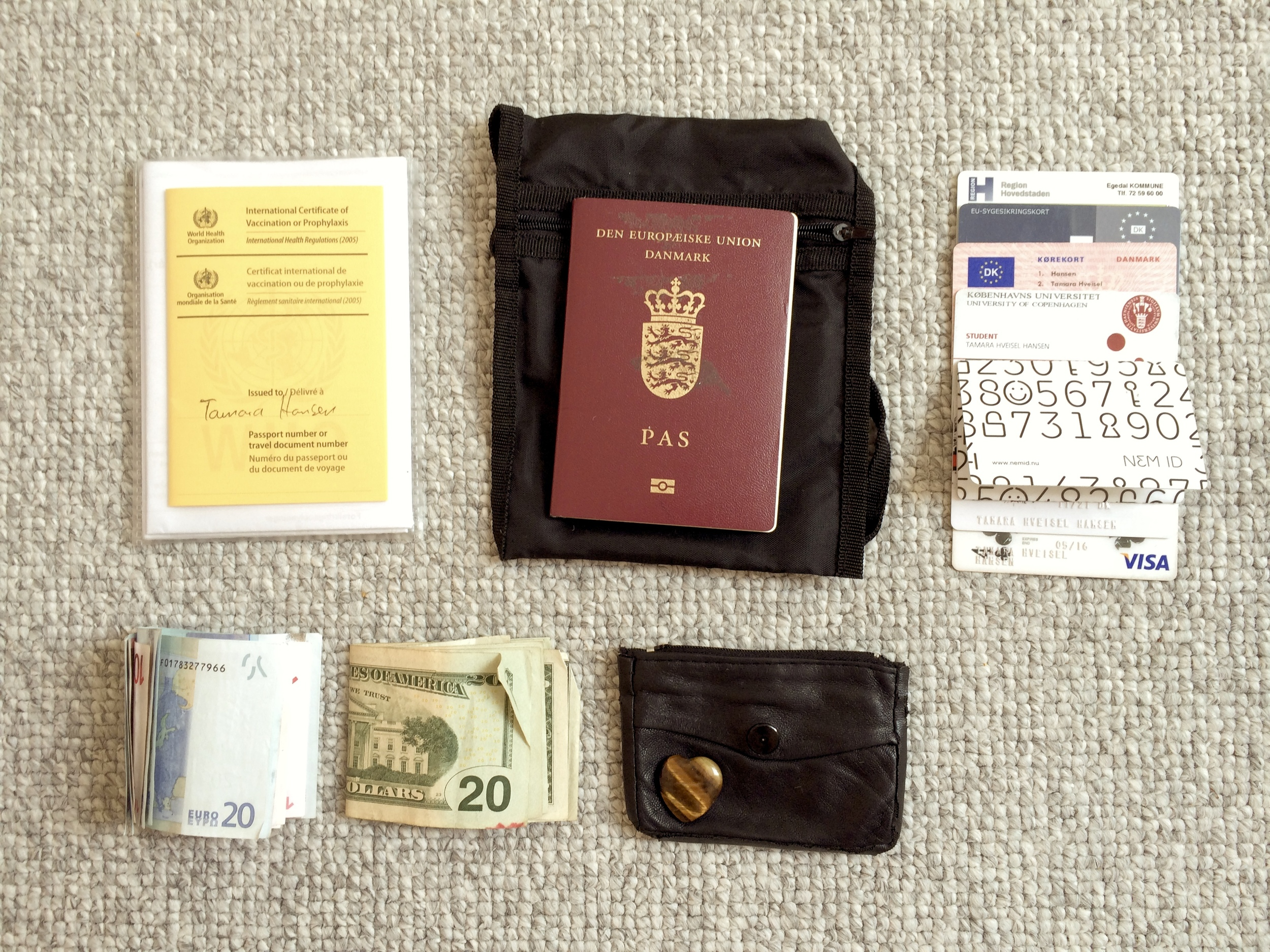 documents passport travel light weight budget backpacking backpack carryon carry on luggage