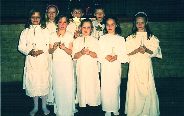 Middle school Lucia. I'm the oneon the far right.