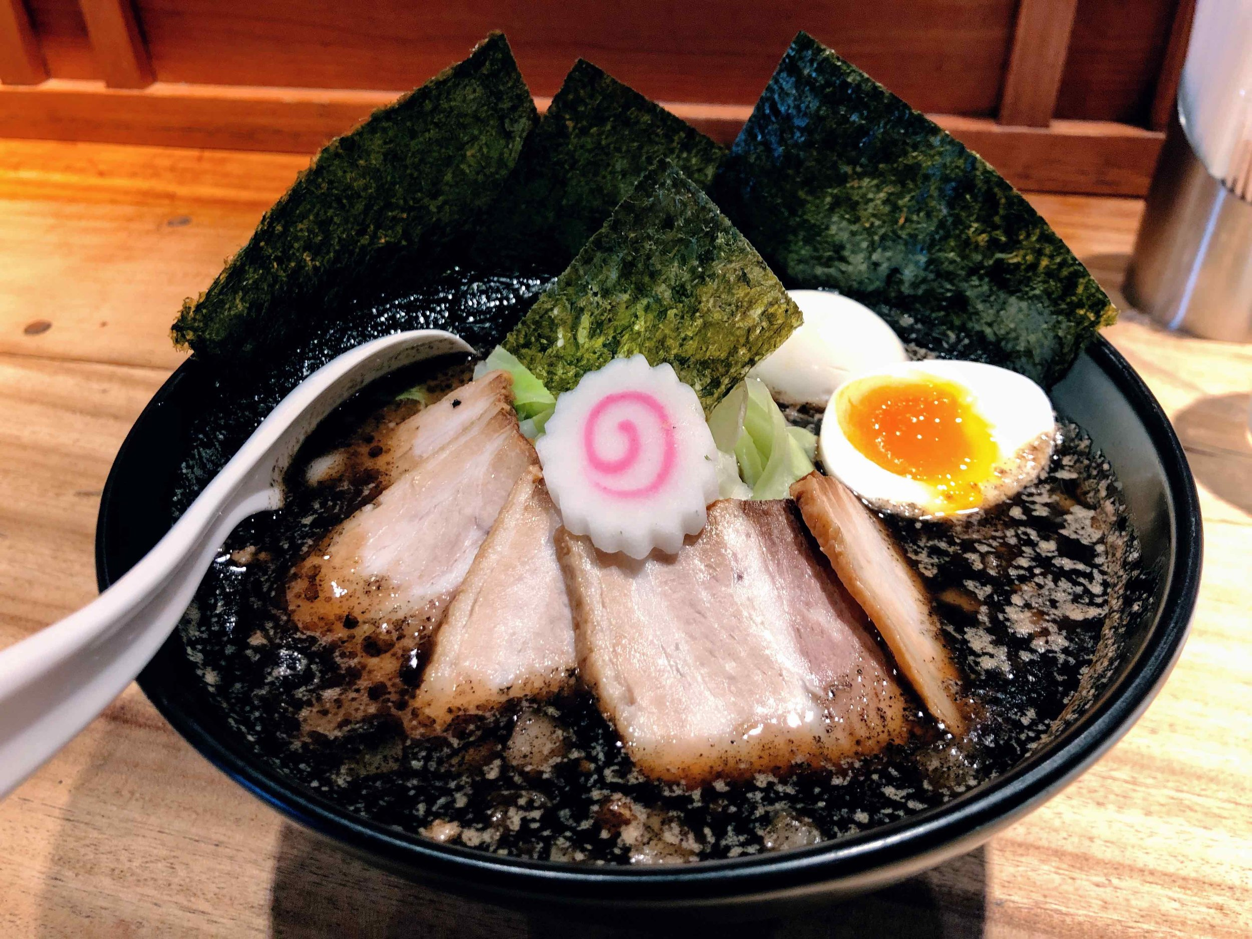 Black swirls of pure heaven from Gogyo Ramen in Kyoto