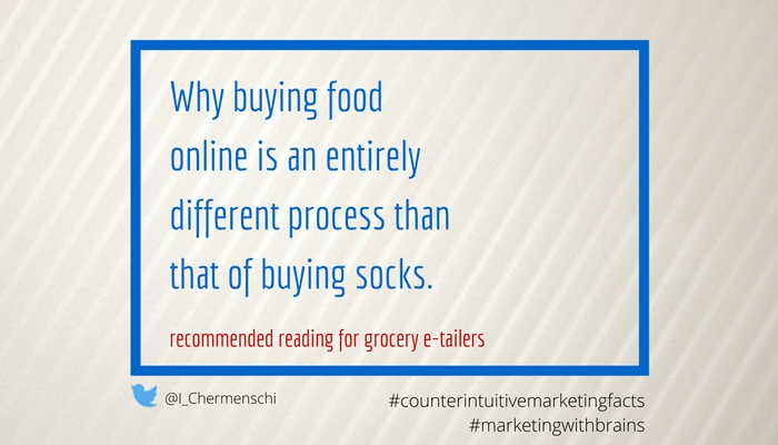 why buying food online is an entirely different process than that of buying socks