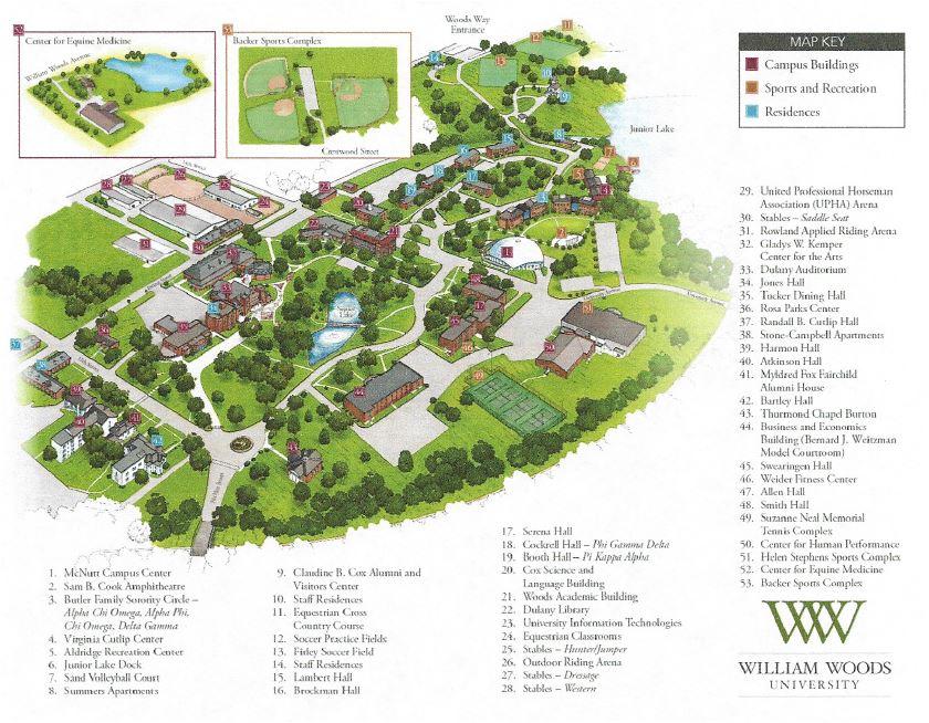 William Woods University Campus Map