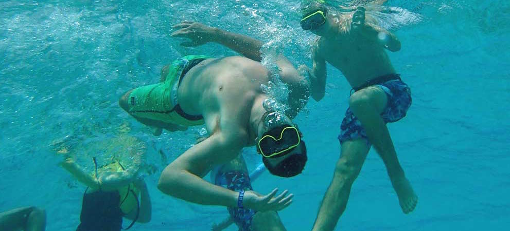 Underwater fun while  snorkelling in Grand Cayman