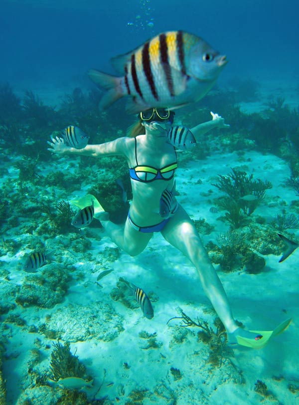 Enjoying some snorkel time in  Grand Cayman