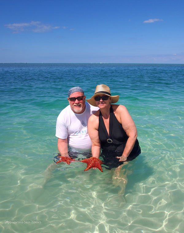 Starfish Point was spectacular and the tour guests were mesmerised by the Sea Stars