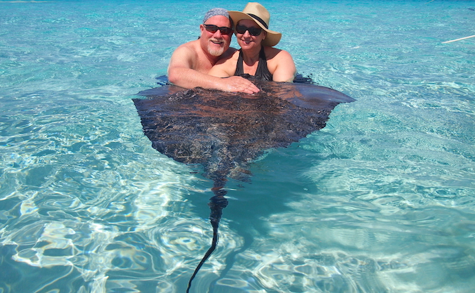 Lazy days and stingrays ...... the sandbar in Grand Cayman