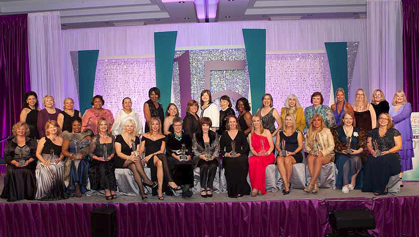 The 2012 WBE Stars and representatives of the Regional Partner Organizations at the Salute in Baltimore, MD.