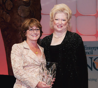 Barbara Carbone  , Partner, KPMG, and WBENC's Board  Chair (left), and Cheryl Stevens, Vice President, Energy Future Holdings